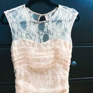 Cream Lace Formal Dress